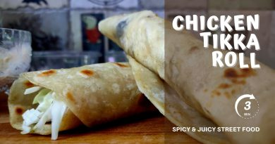 Chicken tikka roll
