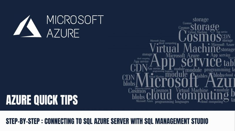 Quick Tip Connecting to SQL Azure Server with SQL Management Studio