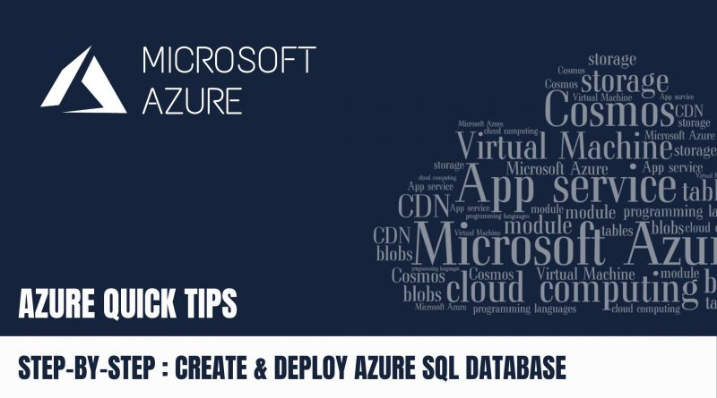 Quick Tip Create & Deploy Azure SQL Database Step by Step