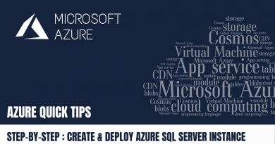 Quick Tip Create & Deploy Azure SQL Server Instance Step by Step