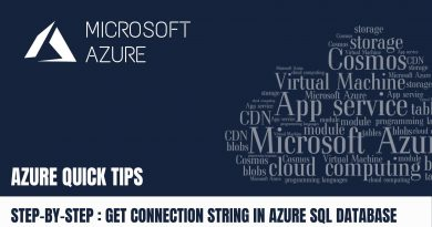 Quick Tip How to get Connection String in Azure SQL Database Step by Step
