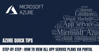 Quick Tip How to view all App Service Plans via Azure Portal Step by Step